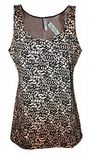 Wholesale Womens B.C Vest Tank Tops Animal Print Beige Black Size 6 to 14